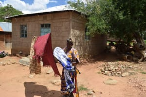 The Water Project: Lema Community -  Hanging Clothes To Dry