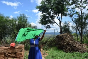 The Water Project: Lema Community A -  Hanging Clothes To Dry