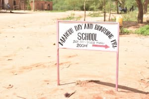 The Water Project: Mang'uu Primary School -  School Sign