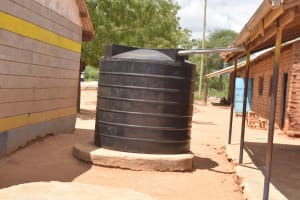The Water Project: Mang'uu Primary School -  Small Rainwater Tank
