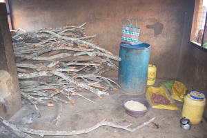 The Water Project: Mang'uu Primary School -  Stack Of Firewood For Kitchen