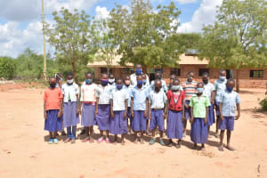 The Water Project: Mang'uu Primary School -  Students Pose For A Picture