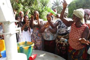 The Water Project: Lungi, New York, Robis, #7 Masata Lane -  Community Members Singing Dancing And Celebrating