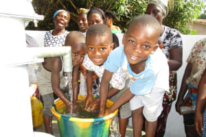 The Water Project: Lungi, New York, Robis, #7 Masata Lane -  Kids Playing With Clean Water