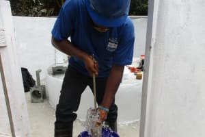 The Water Project: Lungi, New York, Robis, #7 Masata Lane -  Testing