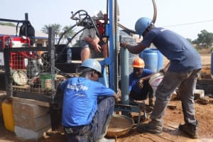 The Water Project: Lungi, International High School For Science & Technology -  Drilling