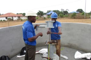 The Water Project: Lungi, International High School For Science & Technology -  Pump Installation