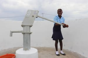 The Water Project: Lungi, International High School For Science & Technology -  Student Collecting Safe And Clean Water