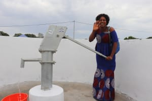 The Water Project: Lungi, International High School For Science & Technology -  Teacher Celebrates At The Well