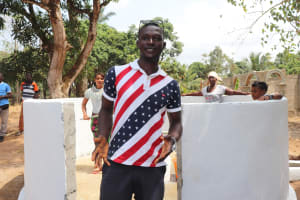 The Water Project: Lungi, Kamen, #22 Mission Road -  Youth Leader Abdulai Maolayah Kanu Making Satement