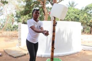 The Water Project: Lungi, Kamen, #22 Mission Road -  Girl Handwashing Before Dedication