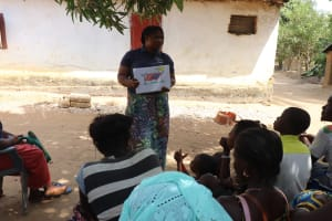 The Water Project: Lungi, Kamen, #22 Mission Road -  Facilitator Teaches Clothesline Use And Importance