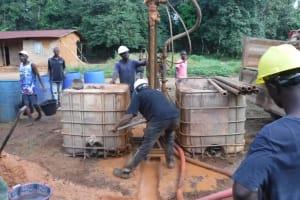 The Water Project: Lokomasama, Gbonkogbonko Village -  Drilling