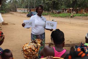 The Water Project: Lokomasama, Gbonkogbonko Village -  Hygiene Facilitator Teaching