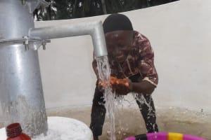 The Water Project: Lokomasama, Gbonkogbonko Village -  Community Kid Celebrating Clean Water