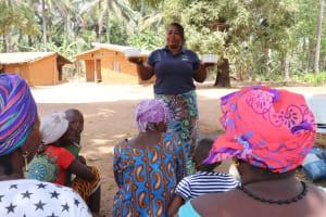 The Water Project: Lokomasama, Gbonkogbonko Village -  Teaching About Oral Rehydration Salts