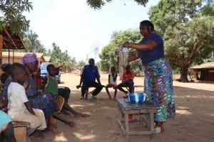 The Water Project: Lokomasama, Gbonkogbonko Village -  Hygiene Facilitator Teaching About Diarrhea