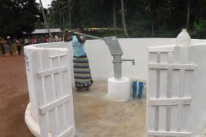 The Water Project: Lokomasama, Gbonkogbonko Village -  Woman Collecting Water