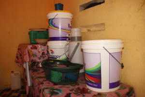 The Water Project: Lungi, Tintafor, Police Barracks E-Line Block 7 -  Water Storage