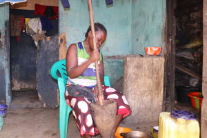 The Water Project: Lungi, Tintafor, Police Barracks E-Line Block 7 -  Woman Cooking