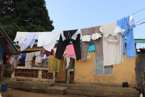 The Water Project: Lungi, Tintafor, Sierra Leone Church Primary School -  Clothesline In Community
