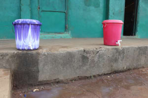 The Water Project: Lungi, Tintafor, Sierra Leone Church Primary School -  Handwashing Station At School