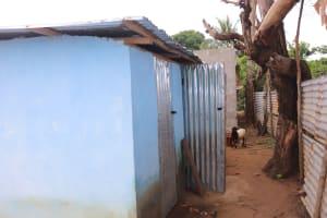 The Water Project: Lungi, Tintafor, Sierra Leone Church Primary School -  Latrine In Community