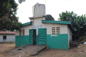 The Water Project: Lungi, Tintafor, Sierra Leone Church Primary School -  School Latrine