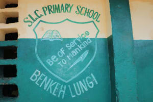 The Water Project: Lungi, Tintafor, Sierra Leone Church Primary School -  School Sign