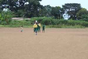 The Water Project: Lungi, Tintafor, Sierra Leone Church Primary School -  Students Playing