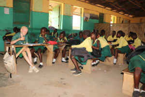 The Water Project: Lungi, Tintafor, Sierra Leone Church Primary School -  Students Inside Classroom