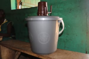 The Water Project: Lungi, Tintafor, Sierra Leone Church Primary School -  Water Storage At School