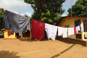 The Water Project: Lungi, Masoila, Off Swarray Deen Street (BAH) -  Clothesline