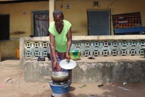 The Water Project: Lungi, Masoila, Off Swarray Deen Street (BAH) -  Woman Cooking