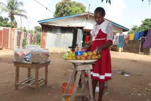 The Water Project: Lungi, Masoila, Off Swarray Deen Street (BAH) -  Girl Selling Food