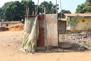 The Water Project: Lungi, Rotifunk, Paramount Chief's Compound -  Bath Shelter