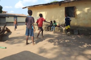 The Water Project: Lungi, Rotifunk, Paramount Chief's Compound -  Kids Playing Football