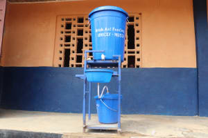 The Water Project: Kankalay Primary and Secondary School -  Handwashing Station