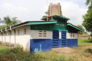 The Water Project: Kankalay Primary and Secondary School -  School Latrine