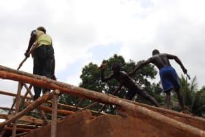 The Water Project: Kamasondo, Masome Village -  Carpenters Roofing House