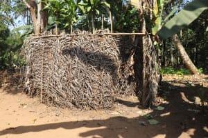 The Water Project: Lokomasama, Bompa Morie Village -  Bath Shelter