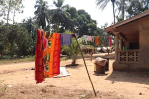 The Water Project: Lokomasama, Bompa Morie Village -  Clothesline