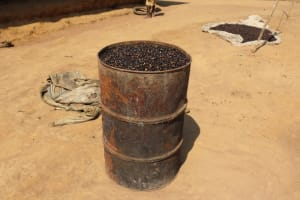 The Water Project: Lokomasama, Bompa Morie Village -  Palm Kernel Set For Processing
