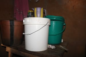 The Water Project: Lokomasama, Bompa Morie Village -  Water Storage For Drinking