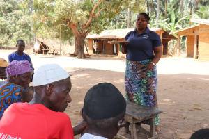The Water Project: Lokomasama, Gbonkogbonko Village -  Hygiene Facilitator Teaching About Balanced Diet