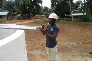 The Water Project: Lokomasama, Gbonkogbonko Village -  Pump Installation