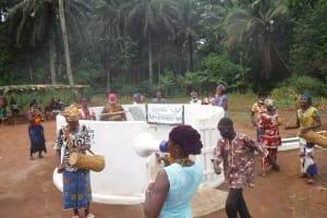 The Water Project: Lokomasama, Gbonkogbonko Village -  Community Members Celebrating