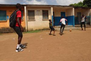 The Water Project: Lungi, Tintafor, Police Barracks E-Line Block 7 -  Boys Playing Football