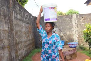 The Water Project: Lungi, Masoila, Off Swarray Deen Street (BAH) -  Carrying Water