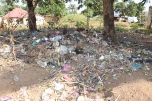 The Water Project: Lungi, Rotifunk, Paramount Chief's Compound -  Garbage